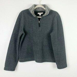 J. Crew Gray Wool Quarter Zip Pullover Sweater Med